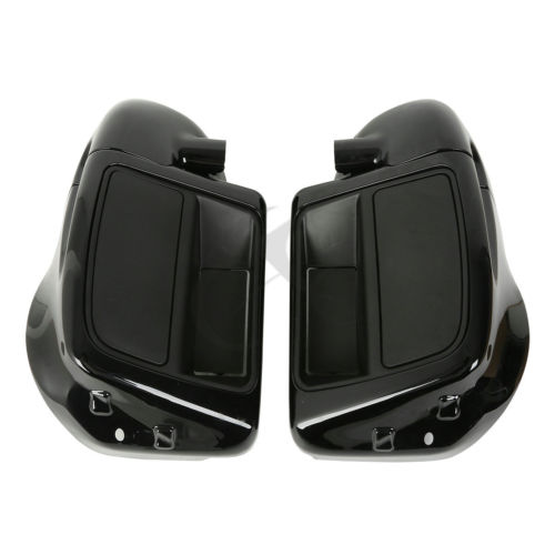 6.5 Speaker Box Pod Lower Vented Leg Fairing Set For Harley Touring FLHT FLHX FLHR Street Glide Ultra Road King 2x chrome motorcycle hard saddle bag saddlebag lid accents decals for harley touring glide flhx flht flhr mbt007