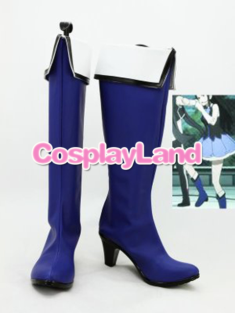 Customize Boots Kyoukai no Kanata Mitsuki Nase Blue Cosplay Boots Cosplay  Costume Anime Party Shoes