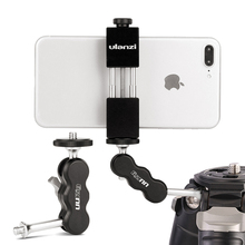 UURig R002ขาตั้งกล้องMagic Arm Dual Ballhead Articulating 1/4 Universalกล้องVideo Monitor Mount Adapter