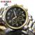 Pequenos Mostradores Pode Funcionar... JK Marca de Luxo Relógio de Ouro Homens Completa Aço Relógios de Pulso de Quartzo Homens de Negócios Relógios Relógio Do Esporte Masculino