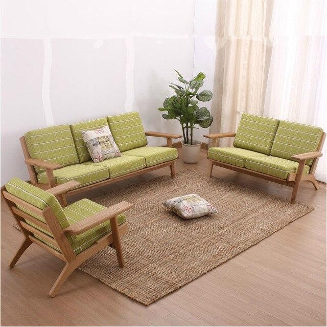 Nordic sala de estar muebles muebles de roble blanco americano sofá ...