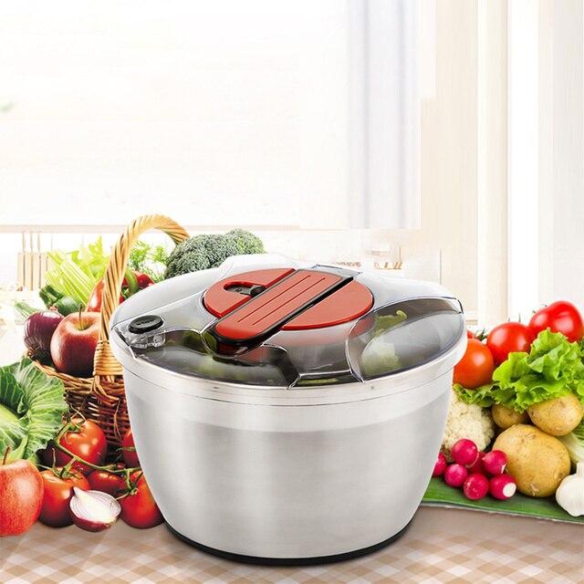 Manual Fruit Vegetables Dehydrator Dryer Cleaner Basket Kitchen Baskets Washer Fruits Salad Lettuce Spinner Strainer