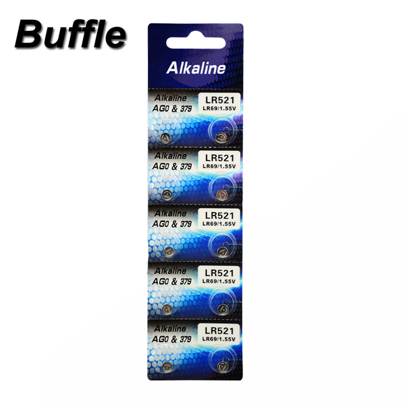 10x Buffle AG0 Lithium 1.5V Button Cell Battery Single Use LR512 LR63 SR521SW 379 D379 618 Watch Toys Remote Camera