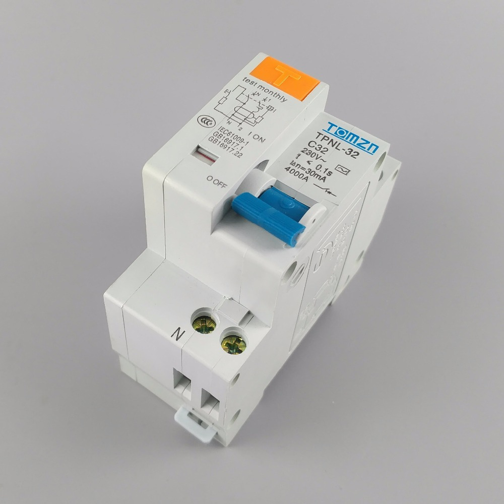 TPNL DPNL 230V 1P+N Residual current Circuit breaker with over and short current  Leakage protection RCBO MCB 5