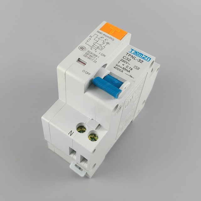 TPNL DPNL 230V 1P+N Residual current Circuit breaker with over and short current  Leakage protection RCBO MCB 8