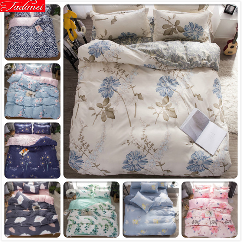 3/4 Pcs Bedding Set Adult Kids Child Soft Cotton Bed Linen Single Twin Full Double Queen King Size Bedspreads Bedclothes 180x220