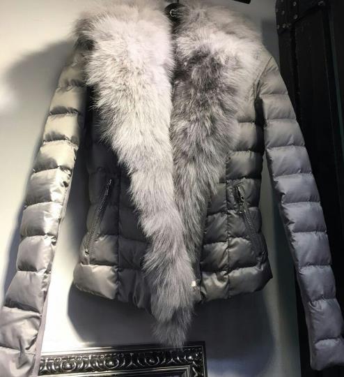 2018 Women Winter Luxury Real Fox Fur Cotton padded Jackets Short Outerwear Slim Short Coats Jaqueta Feminina W187