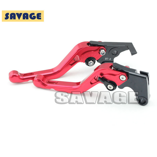 ФОТО Motorcycle Accessories CNC Aluminum Short Brake Clutch Levers For YAMAHA FZ-1 N 06-12, XJ6 Diversion 09-13 Red