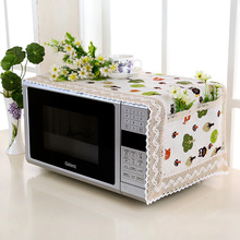 Flax Dust Cover Microwave Cover With Storage Bag