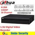 Original Dahua H.264 gravador de 16 Canais 1080 P 1.5U HCVR DH-HDCVR8416L-S3 OEM cada canal até 12MP Digital Video Recorder