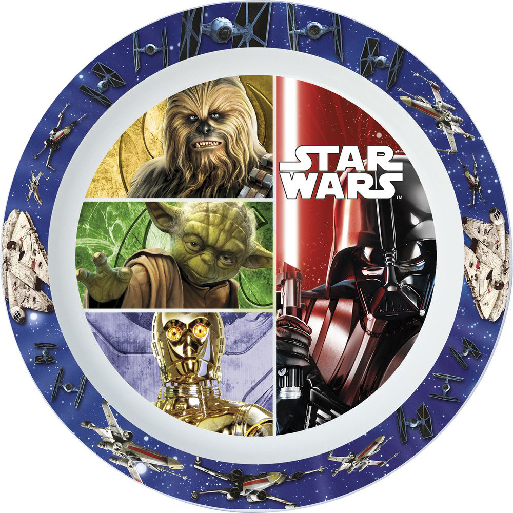 Dishes Stor 82447 Baby tableware Bamboo Feedkid Dinner set Kids Newborn childrens plate Star Wars