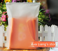 Matte Frosted Travel Pouch Storage Bag Sealed Waterproof Transparent Ziplock Bag For Clothing