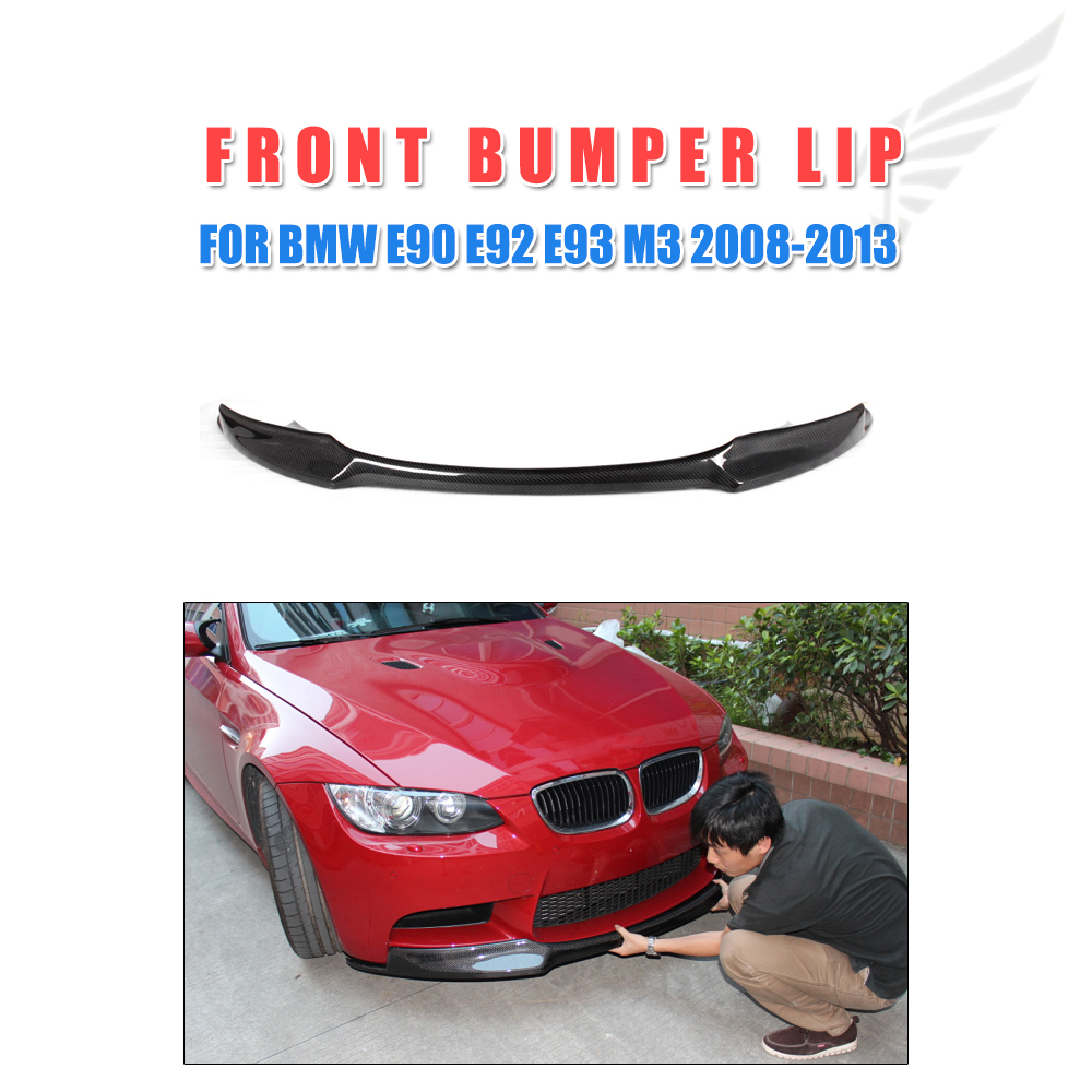 Carbon Fiber Car Front Lip Spoiler Chin For BMW 3 Series