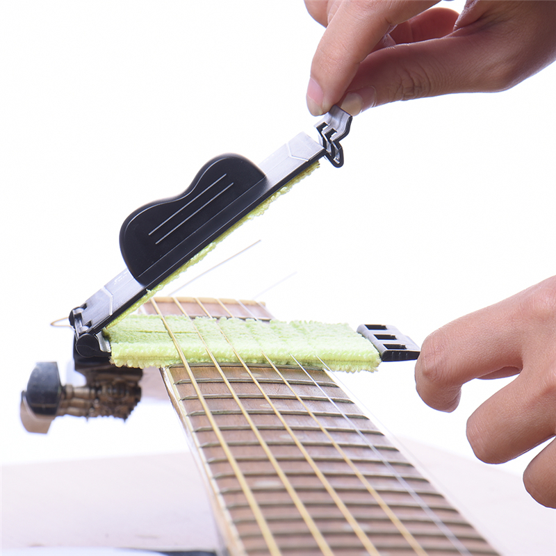 ENO Adjustable Guitar Strings Cleaner Washable Fretboard Cleaning Tool Strings Accessories Scrubber Clean Tools simple tuner