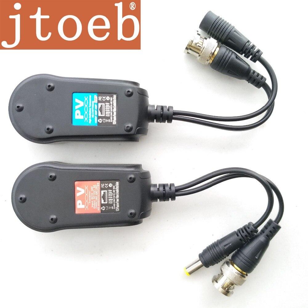 HD Passive vidéo et power data & Audio Balun transmission par RJ45 d'une seule pièce UTP câble peut supporter 2 pcs hdcvi TVI AHD caméra