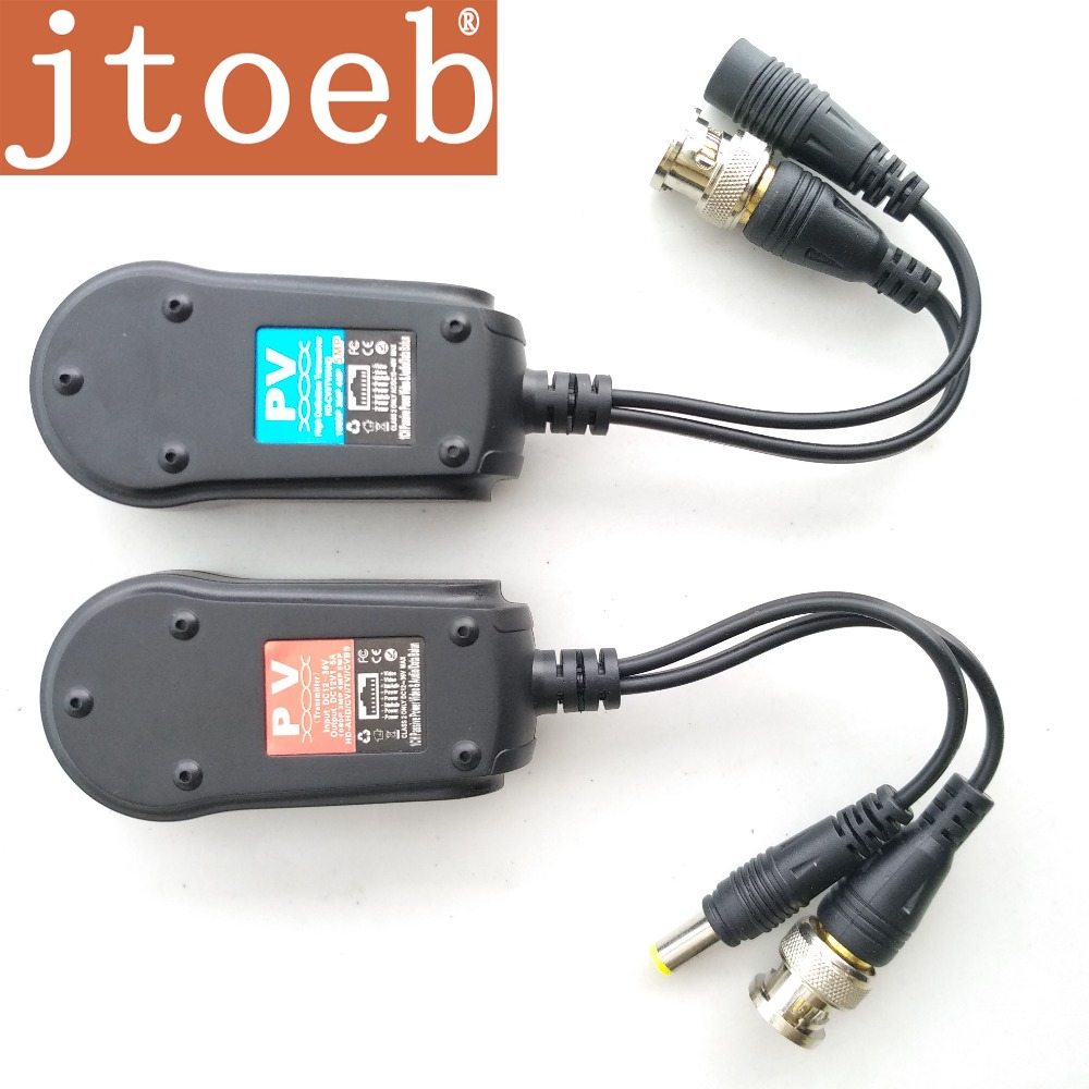 HD Passive Video And Power Data &Audio Balun  Transmission By RJ45 One Piece UTP Cable Can Support 2pcs Hdcvi  TVI  AHD Camera