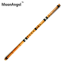 New Gold Bamboo Chinese Traditional Flute Xiao Key G Handmade Bamboo Chinese 3-section Xiao With Brass Wind-instrument