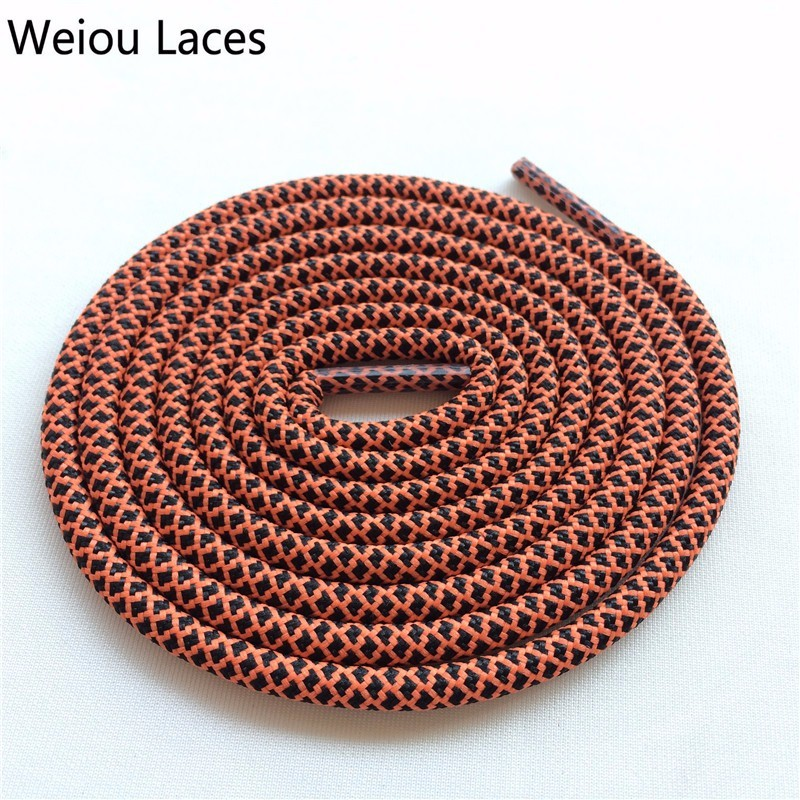 Weiou Multi Color Two Toned Shoestring Colored Children's Shoelaces Sport Shoe Lace Round Rope Bootlace For Boots 350 750 NMD