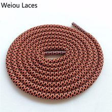 Weiou Multi Color Two Toned Shoestring Colored Children's Shoelaces Sport Shoe Lace Round Rope Bootlace For boots 350 750 NMD(China)
