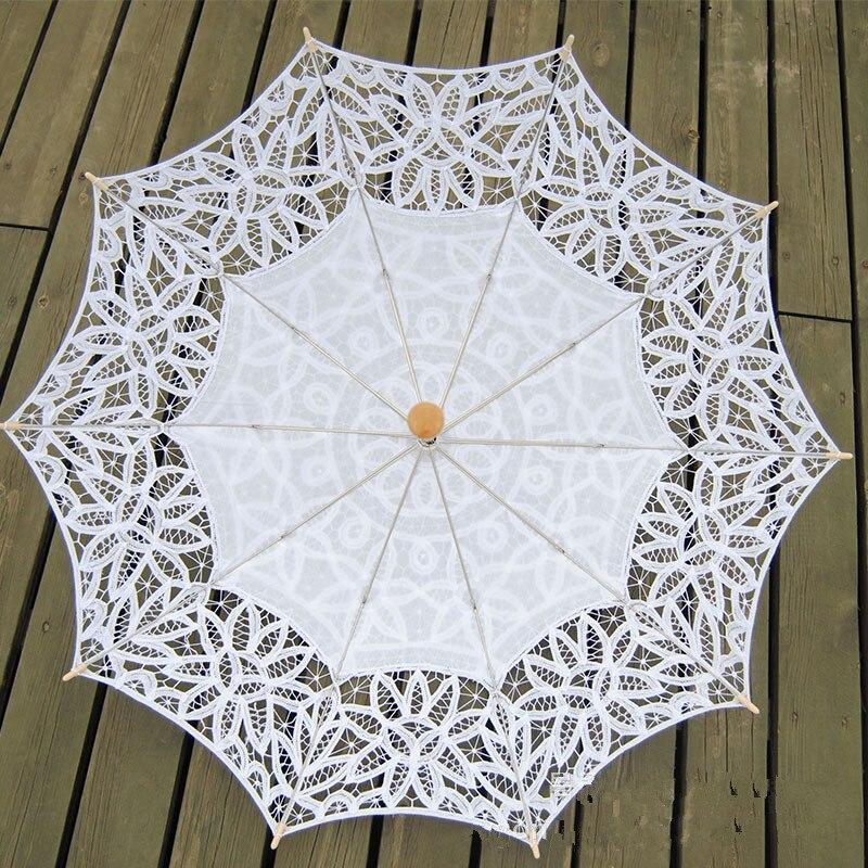 Image 5 - Lace Sun Umbrella Parasol Embroidery Bride Umbrella White Ivory Wedding Umbrella Ombrelle Dentelle Parapluie Mariage Decorativeparapluie mariageombrelle dentellebride umbrella -