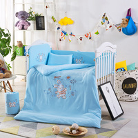 Cartoon Cotton Baby Bedding Set 10pcs/Set Baby Newborn Crib Bedding Quilt Pillow Bumpers With Liner 120*60cm
