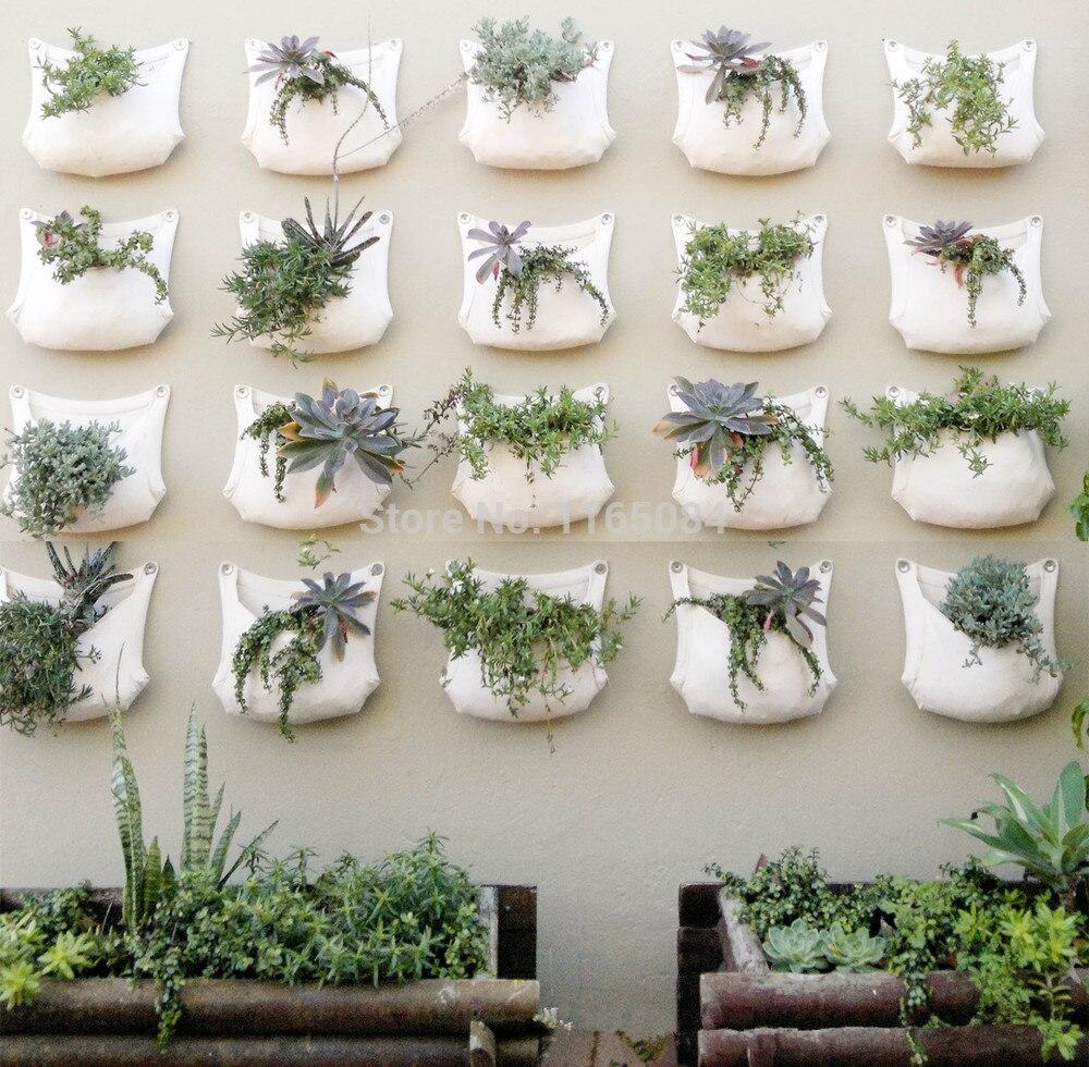 2 Pieces 30*35cm Green Grow Bag Wall Hanging Planter Vertical Garden 1 Pocket Vegetable Living Garden Bag Home Supplies