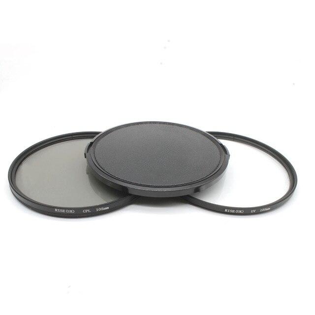 RISE(UK) 105mm Circular Polarizing Filter +UV filter+lens cap For Nikon Canon Pentax Sigma camera