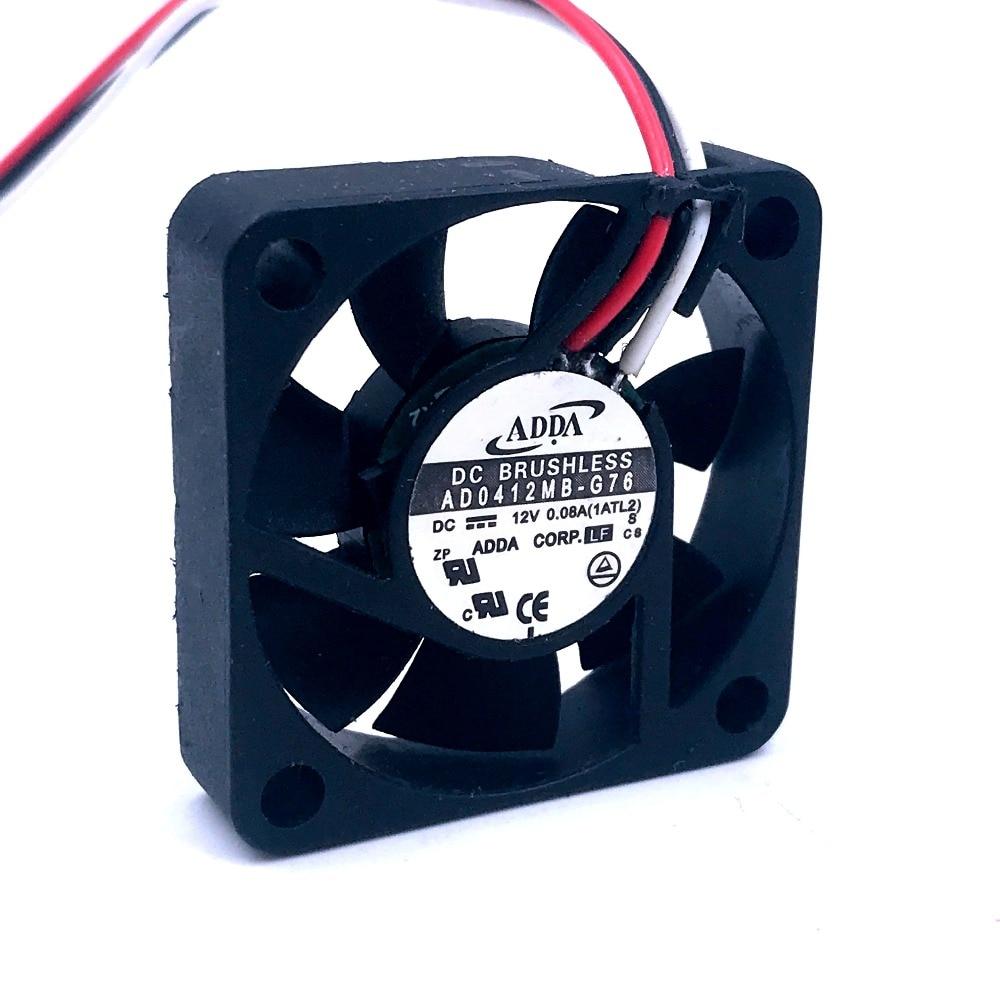 FOR ADDA AD0412MB-G76 4010 4cm 40mm DC12V 0.08A Ultra Silent Fan  Ball Bearing