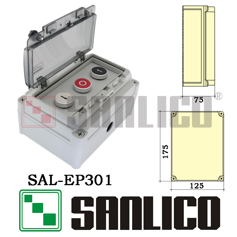Outdoor new waterproof button control station SAL(XAL)-EP301 protection grade IP67  цена и фото