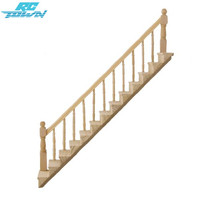 LeadingStar 1 12 Dollhouse Pre Assembled Staircase Wooden Stair Stringer Step With Left Handrail Zk30