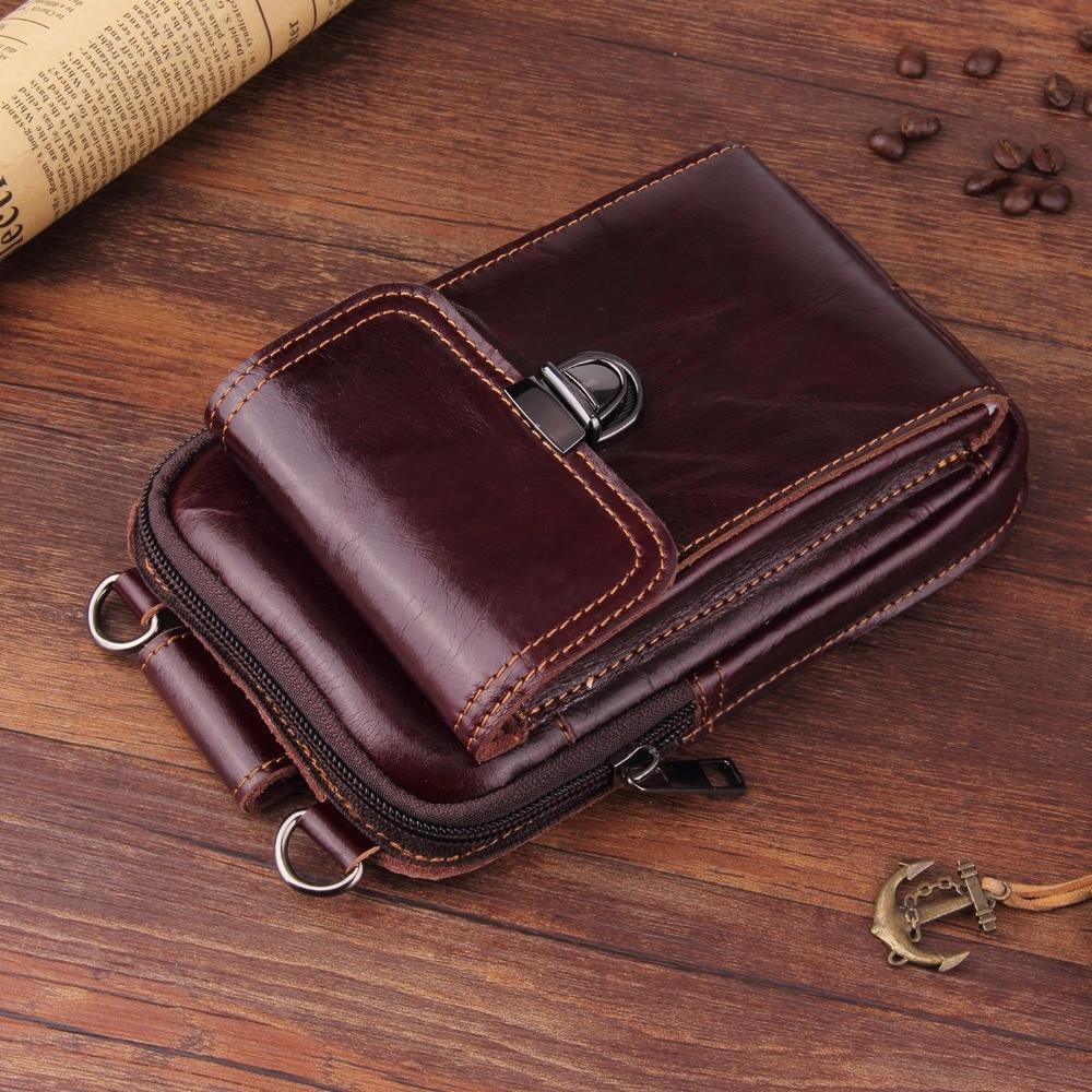 Genuine Leather Pouch Shoulder Belt Mobile Phone Case Bags For Asus Zenfone Go ZB500KL ZC451TG T500 ZB551KL,Zenfone 3 ZE520KL