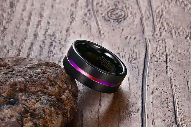 Fashion Black Tungsten Carbide Ring