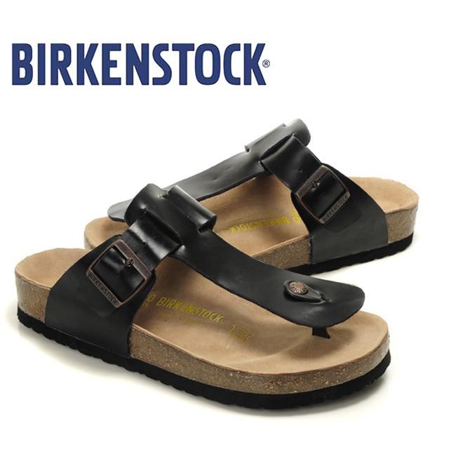 9bce2779c New Arrival BIRKENSTOCK Shoes Men Flip Flops Slippers Men Damen Gizeh  Birko-Flor Unisex Summer Flat Shoes Men Shoes Cork 811