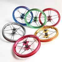 Children Balance Wheel Ultralight 251 g 12 Inch 85 95mm Children Bike Wheel Carbon Fiber Hub Anode Color Balance Bike Wheel