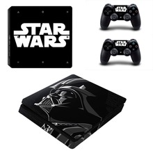 Star Wars Decal Skin PS4 Slim Skins Kit for Sony Playstation 4 Slim Console and 2 Controllers Sticker