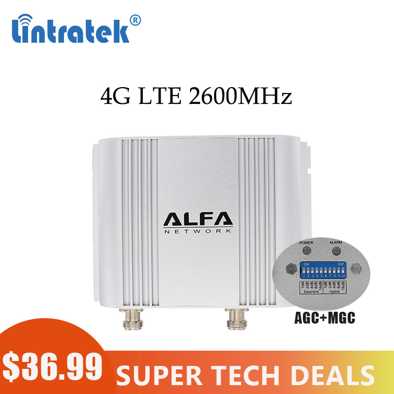 Lintratek Mini 4G LTE 2600mhz FDD 65dB Gain Cellular Repeater 2600 4G Cell Phone Signal Booster Amplifier With LCD Display #8
