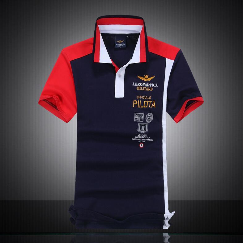 High Quality Camisas Masculinas Polo Australian COTTON RETAIL AERONAUTICA MILITARE Men's POLO Shirt Air Force One Embroidered