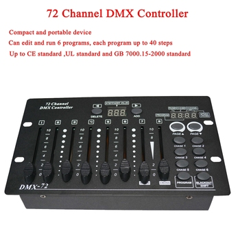 NEW 72 Channel DMX Controller Stage Lighting DJ equipment DMX Console For LED Par Moving Head Spotlights DJ Controller chauvet dj dmx an