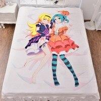 Japanese Anime Tsukimonogatari Bedding Sheet Bedsheet 3d Fitted Carpet Manga Duvet Covers Quilt Flannel Mattress