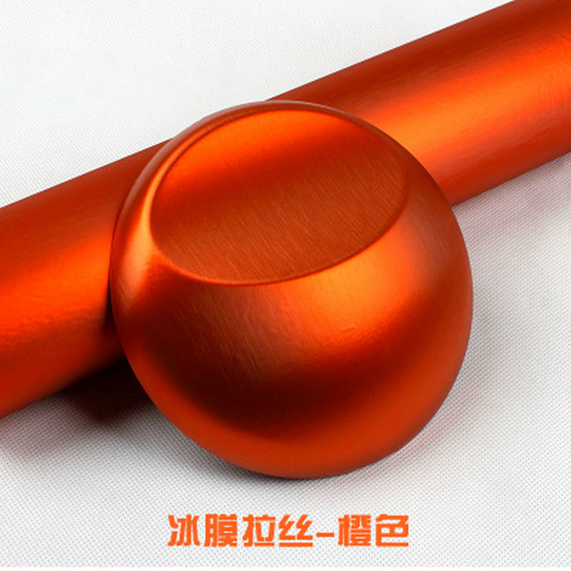 152CM Good Quality Orange Metallic Brushed Aluminum Vinyl Metal vinyl Car Wrap Film Sticker Styling Auto Foil Decoration 50 152cm leather pattern adhesive pvc vinyl film sticker auto car internal external decoration vinyl wrap decal car styling