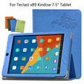 Para Teclast PU estojo de Couro De proteção Estojo de Proteção Shell/Pele Para Teclast X89 Kindow caso 7.5 ''Tablet PC dormência