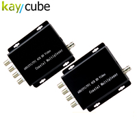 Kaycube 4 Channel AHD/CVI/TVI Camera Video Multiplexer Over One Coaxial Cable Connect 4 CCTV 1080P 720P HD Analog Cameras Repeat