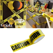 1Roll DIY Yellow Opp Warning Tapes Sticker Construction Birthday Party Decoration Bachelorette Decor Mall School Factory