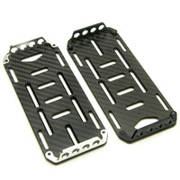 Black Carbon Fiber Battery Mounting Plate For 1 10 Scale RC Crawler Car Axial SCX10 CC01