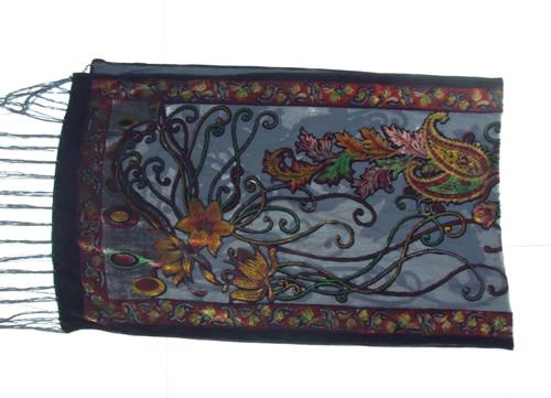 Новые горячие Испания кешью цветы шарфы для женщин выгорания бархат шаль женский весна зима подарок мама, жена - Цвет: red