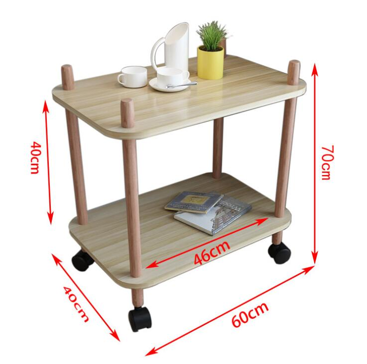 US $139.0 |60*40CM Two layer Kitchen Storage Rack Mobile Dining Car Coffee  Table Side Table-in Coffee Tables from Furniture on AliExpress