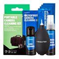 Marca nueva cámara vsgo profesional 6 en 1 portátil kit de mantenimiento de limpieza de sensor aps-c lente limpiador del soplador de aire hisopo de tela.
