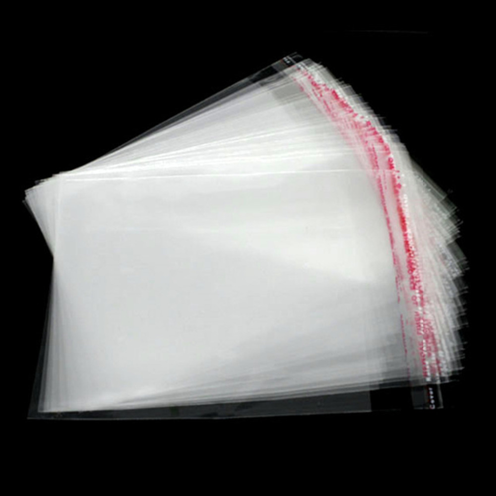 Doreen Box hot-  200 Clear Self Adhesive Seal Plastic Bags 12x9cm (B07378)