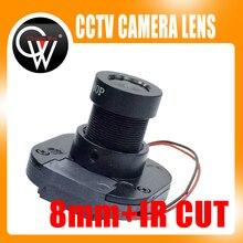 1080P IR 8mm lens + IR CUT Equipment M12 for Full HD CCTV Camera MTV Mount