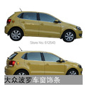 16pcs/lot car styling window decoration sill scuff plate strip board part car accessories for Volkswagen POLO Hatchback model